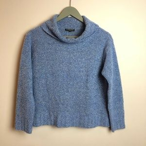 Eileen Fisher Wool/Cashmere Knit Sweater, Blue, PS